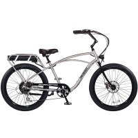 2017 Pedego Classic Interceptor III Electric Bicycle – Brushed Aluminum