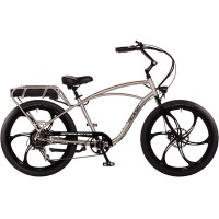 2017 Pedego Classic Interceptor III Electric Bicycle – Mag Wheels – Brushed Aluminum