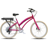 ProdecoTech Islander ST V5 Electric Bicycle – Pink/Silver