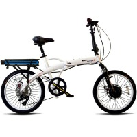 ProdecoTech Mariner 8 V5 Folding Electric Bicycle – White/Black