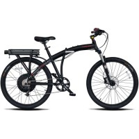 ProdecoTech Phantom X2 V5 26″ Folding Electric Bicycle – Black/Black