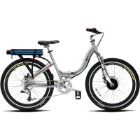 ProdecoTech Stride 300 V5 Folding Electric Bicycle – Silver/Black